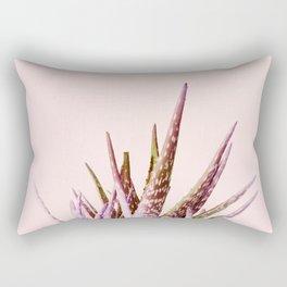 Duotone Aloe Vera on pastel Coral Rectangular Pillow