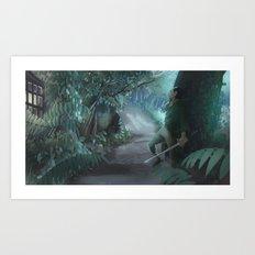 Shady Samurai Art Print