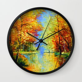 Autumn silence Wall Clock