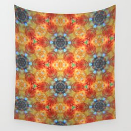 Orange Blossom and Blue Jeans Wall Tapestry