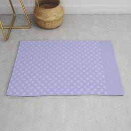 Light purple monochrome pattern with hearts . Rug