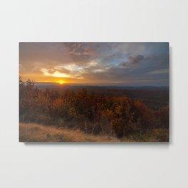 Sunset on the Cherohala Skyway Metal Print