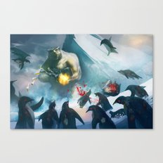 polar bear boss Canvas Print