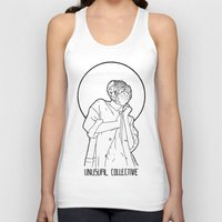 mineral Tank Tops featuring Mineral Woman by Ryan Brown