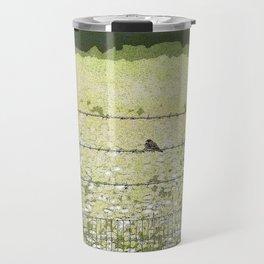 Birds on a Fence Travel Mug