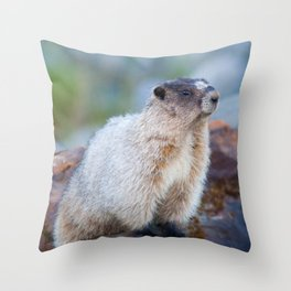 The Marmot Throw Pillow