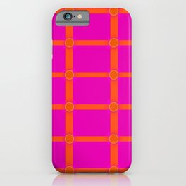 Alium 3 - Delayed Color Contrast Optical Illusion Grid iPhone Case