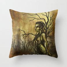 Dark Dryad Throw Pillow