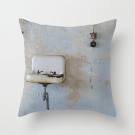Old Sink Throw Pillow