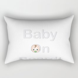 Baby on board sign pregnancy logo Rectangular Pillow
