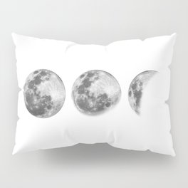 Full Moon cycle black-white photography print new lunar eclipse poster bedroom home wall decor Pillow Sham