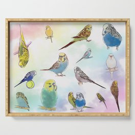 Budgies Serving Tray