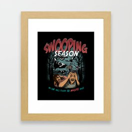 Swooping Magpie Season Framed Art Print