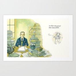 Tolkien Begins A Story Art Print