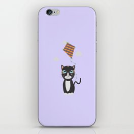 Cat with Kite iPhone Skin