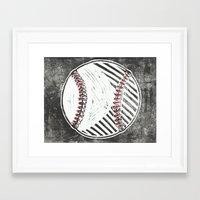 baseball Framed Art Prints featuring Baseball by Peter Dunne