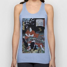 The Woman Kansuke Slaying an Assailant with a Sword Unisex Tank Top