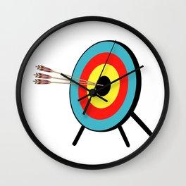 Three Arrow Bullseye Wall Clock