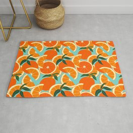 Orange Harvest - Blue Rug