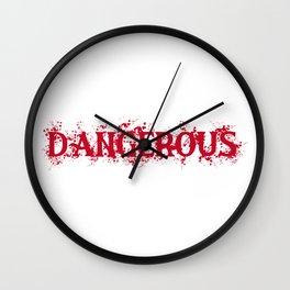 Dangerous Bloody Wall Clock