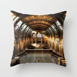 The Natural History Museum in London (Painting) Throw Pillow