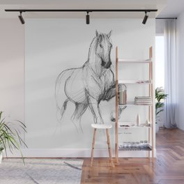 Horse (Siwy / Silver) Wall Mural
