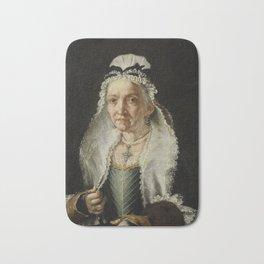 Portrait of an Old Lady Bath Mat