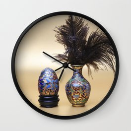 Chinese Couple Wall Clock