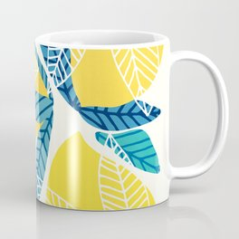 Lemon Tree / Abstract Fruit Art Coffee Mug