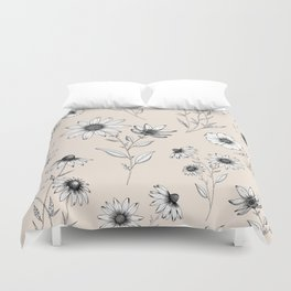 Wildflowers Pattern | Cream Duvet Cover