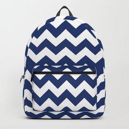 Navy Chevron Backpack