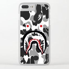 Bape Camo Black Clear iPhone Case