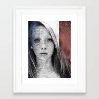 france Framed Art Prints featuring France by emscrazy8