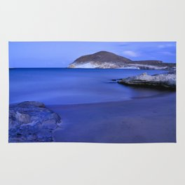 Blue sunset at Genoveses beach Rug