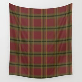 Red and Green Tartan Wall Tapestry
