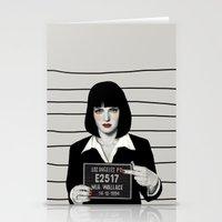 mia wallace Stationery Cards featuring Mia by Sofia Bonati