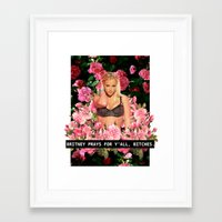 britney Framed Art Prints featuring BRITNEY PRAYS. by eriicms