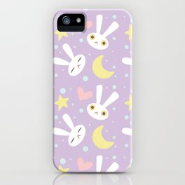 Magical Moon Rabbit iPhone Case