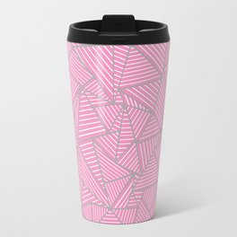 Ab Out Double Pink and Grey Travel Mug