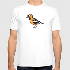 oriole MEDIUM White Mens Fitted Tee