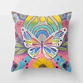 """""""Butterfly Nectar"""" by Aly Stinson Throw Pillow"""