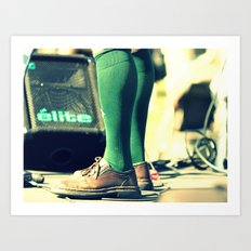Green socks Art Print