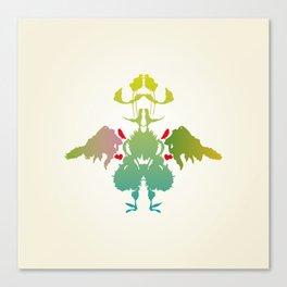 Rorschach Chicken Canvas Print