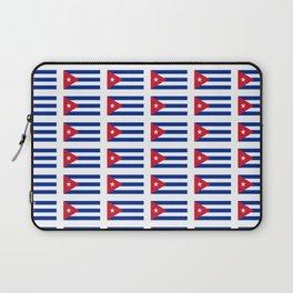 Flag of Cuba 2 -cuban,havana, guevara,che,castro,tropical,central america,spanish,latine Laptop Sleeve
