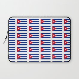 Flag of Cuba 2 -cuban,havana, guevara,che,castro,tropical,central america,spanish,latine Laptop Sleeve