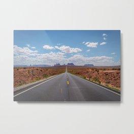 Highway 163, Monument Valley Metal Print