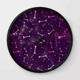 Dirty Bones on Purple Wall Clock