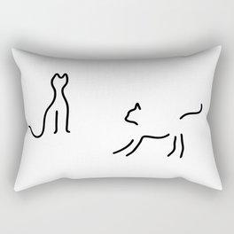 cats play Rectangular Pillow