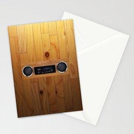 wall retro radio Stationery Cards