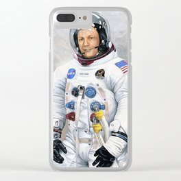 Neil Armstrong Clear iPhone Case